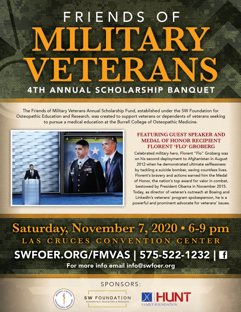 Friends of Military Veterans 2020 Scholarship Banquet